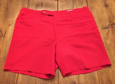 Vintage 70s 80s Mens Red Sansabelt Sport Golf Preppy Shorts 42W