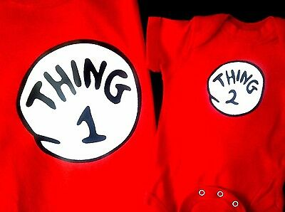 Thing 1 Thing 2 Dr.seuss T Shirt All Sizes Adult Youth Toddler Infant Sizes