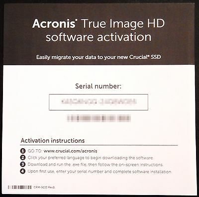 Acronis True Image HD Backup Software Activation License Key Digital Delivery