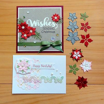IMPRESSION OBSESSION SMALL POINSETTIA FLOWERS SET Cutting Die - BNIP
