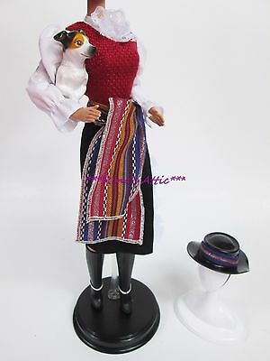 CHILE Chilean Ethnic National Costume Barbie Doll Fashion Dress Outfit w/ Dog