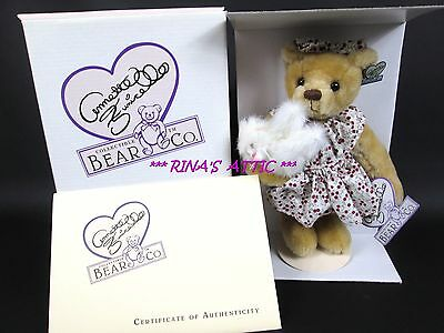 "Annette Funicello 8.5"" PRECIOUS & BAILEY Buddies Collection Bear & Kitty Cat"