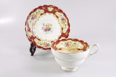 Paragon Pompadour Fine Bone China Tea Cup Saucer Made In England