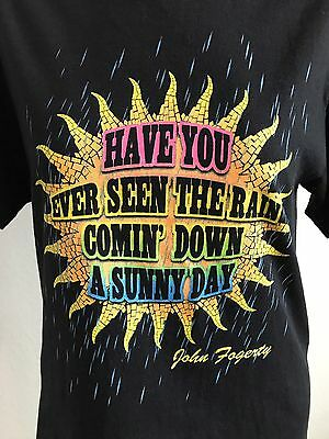 John Fogerty T-shirt Mens S Black Sun Have You Ever Seen The Rain Comin' Down