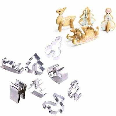 3D Stainless Steel Christmas Scenario Biscuits Cutter Mold Cake Decoration Tools