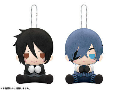 Black Butler Book of the Atlantic Plush Keychains Sebastian Ciel Kuroshitsuji