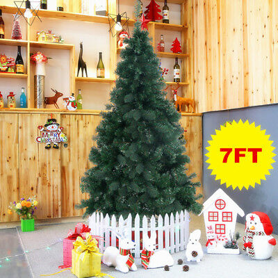 7FT Christmas Tree Luxury Boxed Traditional Forest Green with Metal Stand