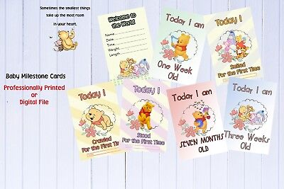 Baby milestone cards - Winnie the Pooh - Pack of 30
