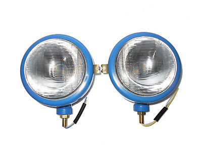 Pair of Ford Tractor Head Light (LH + RH) - 12 V Blue Brand New