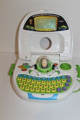 Disney Pixar Toy Story 3 Buzz Lightyear Star Command Laptop Computer Game System