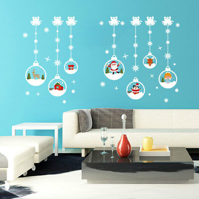 Christmas Ball Window Wall Sticker Removable PVC Home Party Xmas Decal Decor,