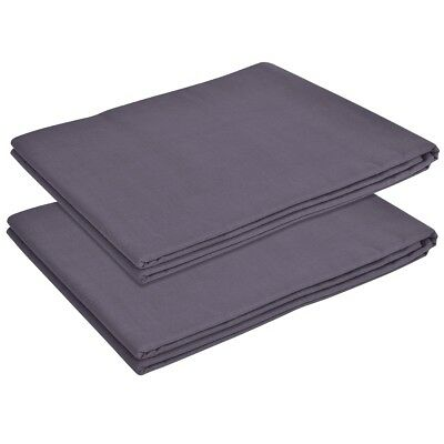 vidaXL 2 pcs Flat Bed Sheet for Single Bed Bedding Cotton 146x260 cm Anthracite