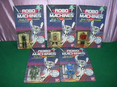 Robomachines Bandai Transformers Gobots I 1° Series Complete P51 F16 Scooter Moc