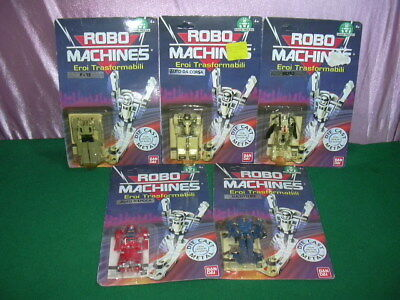 Robomachines Bandai Transformers Gobots Iii 3° Series Complete Car Bike F-15 Moc
