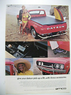 1973 Datsun Pickup Amco Accessories Usa Magazine Fullpage Colour Advertisement