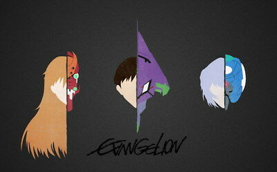 "195 Neon - Genesis Evangelion Ayanami Rei Fighting Anime 22""x14"" Poster"