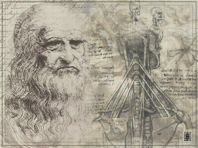 "036 Blueprint - Da Vinci Notebook 18""x14"" Poster"