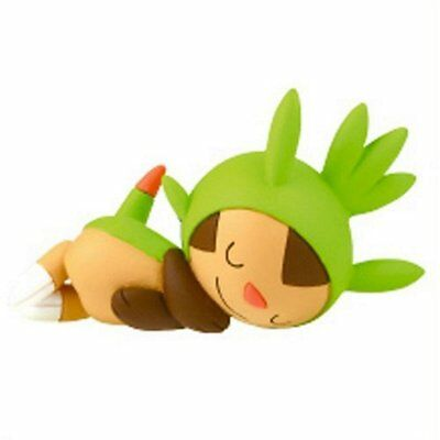 Pokemon Desktop PVC Good Night Friends Figure Sleeping Series ~ Chespin @81336