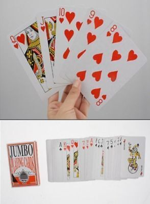 48 x packs jumbo playing cards waxed surface x 8.5 x 12cm bulk wholesale Lot