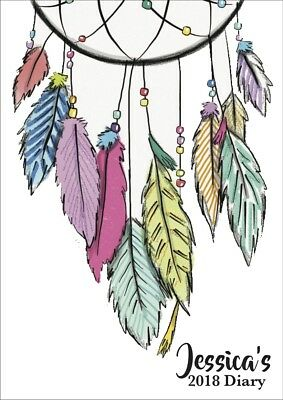 2018 diary personalised colourful dreamcatcher A5