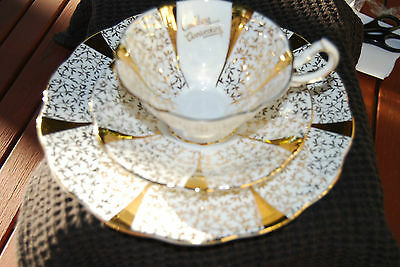 "QUEEN ANNE  Wedding Anniversary ""GOLD LACE "" TRIO SET - Exquite"