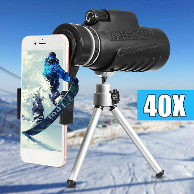 40X60 Telescope Monocular Camera Lens+Phone Clip+Tripod For Cell Phone iPhone