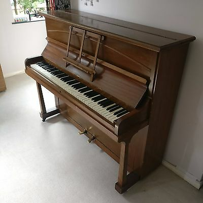 Vintage upright piano (overdamped/birdcage action) + 6pc set tuning wrench.