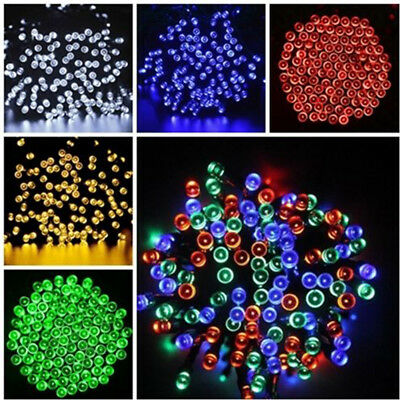 Solar Powered 200 300 LEDs String Fairy Tree Light Outdoor Wedding Party Xmas i~