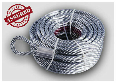 (Galvanised Steel Winch Cable) [7.8mm x 28m] up* 17000lbs  Rope Wire Replacement