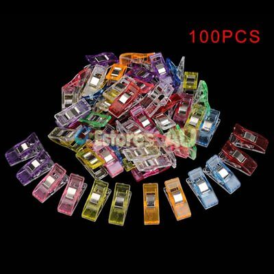 100Pcs Plastic Pack Wonder Clips For Quilting Sewing Knitting Crochet Craft Tool