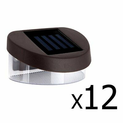 12X Solar Fence Light Solar Gutter Light Outdoor Garden LED Yard Pathway Lamp OR