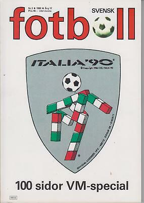 Rare Sweden Edition programme Italy 1990 FIFA World Cup 90