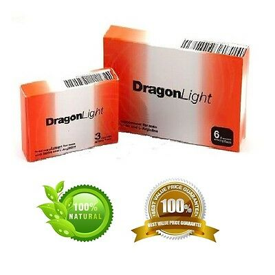 6 ORIGINAL DRAGON LIGHT Herbal Male Enhancement CAPSULES 475mg.