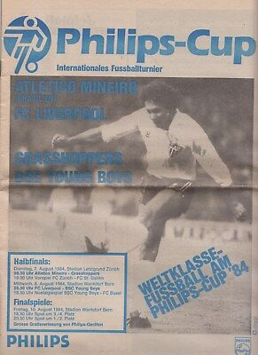 tournament  Philips-CUP 1984 Switzerland / Liverpool Grasshoppers Basel Gallen