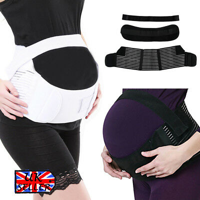 Pregnancy Maternity Belt Lumbar Back Support Waist Band Belly Bump Brace Strap