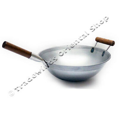 "Hancock 14"" (36Cm) Rolled Edge Carbon Steel Fried Rice Wok"