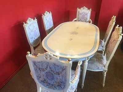 Stunning dining set Exclusive CC Designs French Louis XVI Palace style chairs