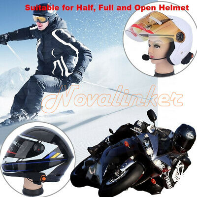 2X Interphone Motorcycle Bluetooth Intercom Stereo Headset Sport Helmet Speaker
