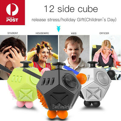 12-Side Fidget Magic Cube II For Kids Adult Anti-anxiety Stress Relief ADHD Toys