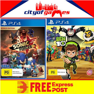 Ben 10 & Sonic Forces Bonus Edition Bundle PS4 Game Free Express Post In Stock