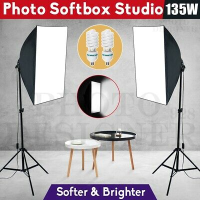 1350W Photography Studio Continuous Softbox Lighting Soft Box Light Stand Kit AU