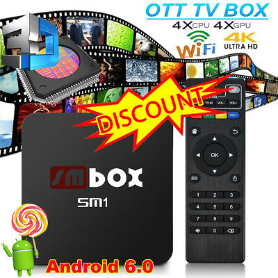 2017 Quad Core Android TV Box 4K KODI 17.3 Ultra HD Pro-Media Player Streamer