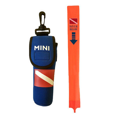 Scuba Diving SMB Surface Marker Tube Buoy with Pouch and Line Easy Inflate
