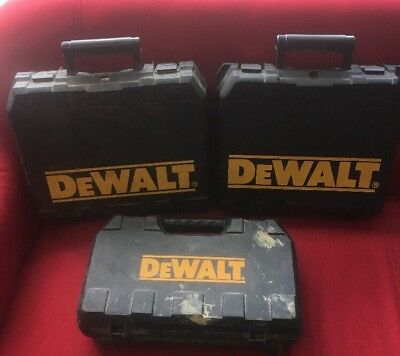 3 X Dewalt Power Tool Cases Boxes - Cases only