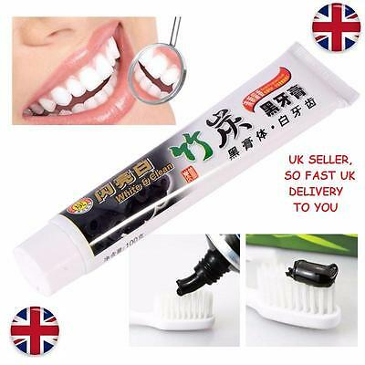 100g Bamboo Charcoal All-Purpose Teeth Whitening Clean Black Toothpaste Care UK