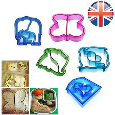UK Seller Children Kids Sandwich Crust Cutter Mould Stamp Animal Shapes Lunch