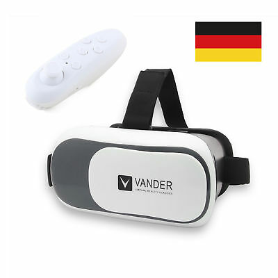 3D VR Box Brille Handy Virtual Smartphone Reality Film MIT Bluetooth Controller