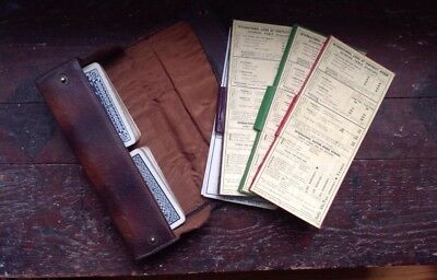 Vintage ART DECO Leather Cased Bridge - Playing Cards Set