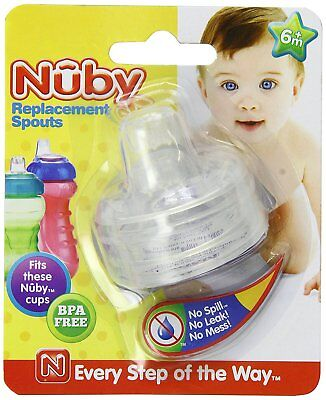 Nuby 2-Pack Replacement Silicone Spouts for Select Nuby Cups