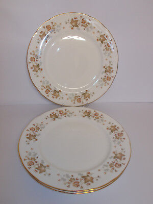 4 x Colclough Bone China Dinner Plates Avon Leaf 26.7cm Lovely